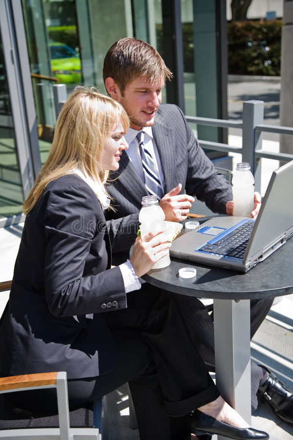 Caucasian Business People Having Discussion Stock Image