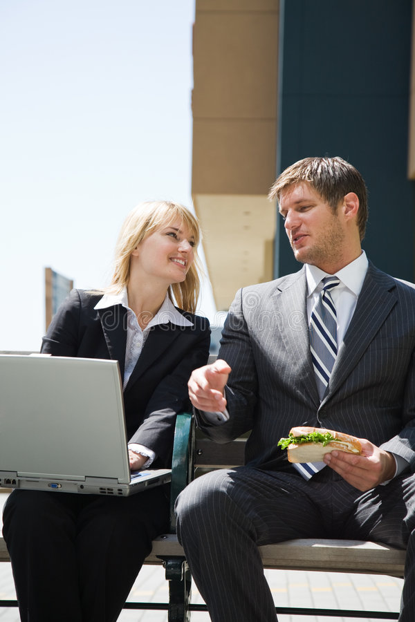 Download Caucasian Business People Having Discussion Stock Image - Image: 6782217