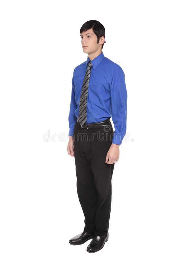 Caucasian businessman with arms at sides stock photos