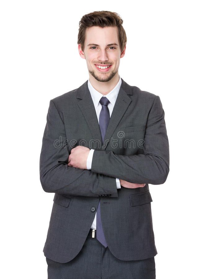 Caucasian businessman royalty free stock image