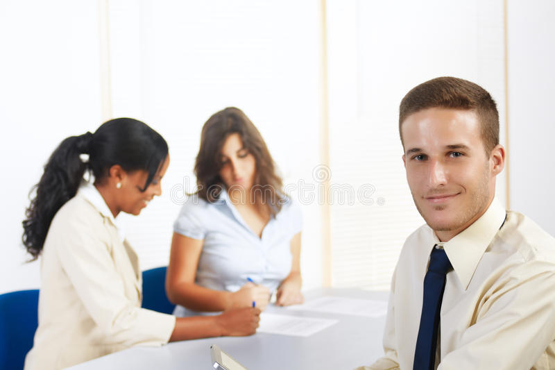 Download Caucasian Businessman With A Tablet PC Stock Photo - Image of professional, attractive: 21753356