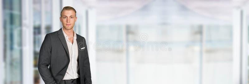 Caucasian Businessman At Work stock photos
