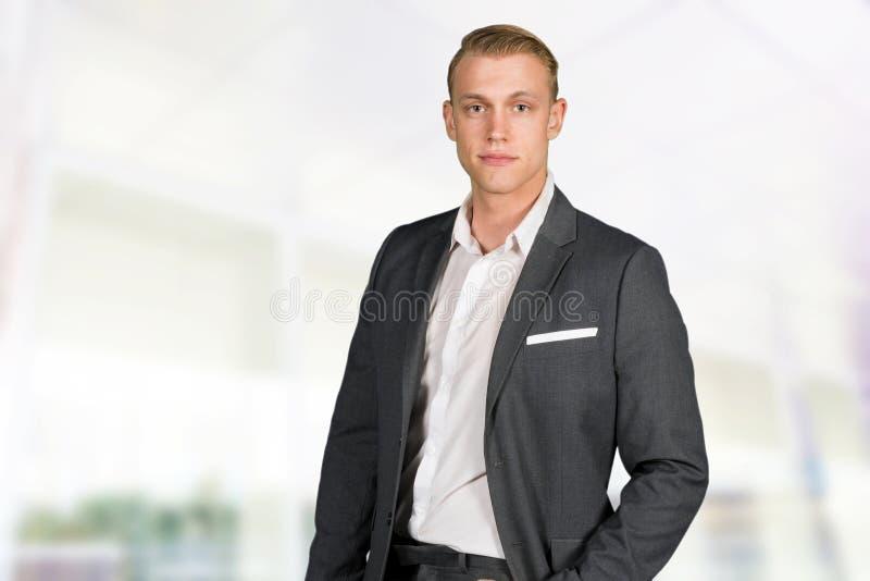Caucasian Businessman At Work stock images