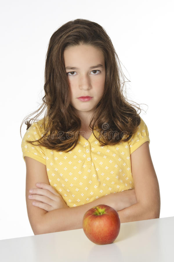 Download Caucasian Child stock image. Image of apple, girl, nutrition - 10857579