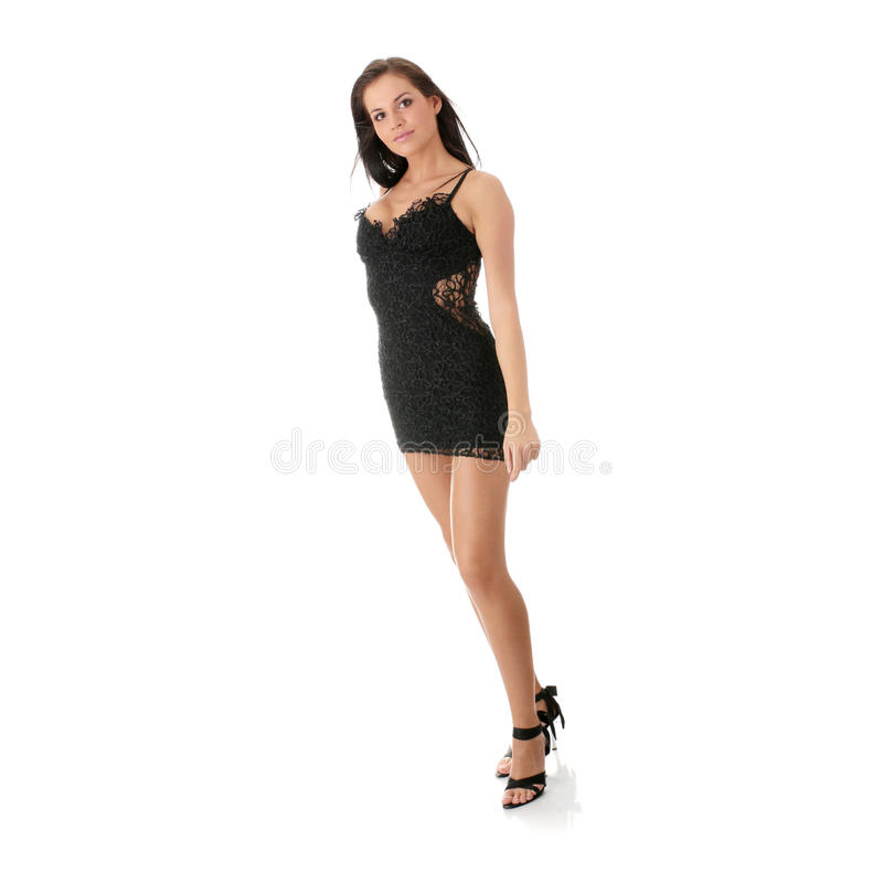 Caucasian Club Girl royalty free stock images