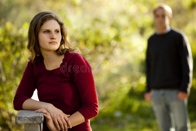 Download Caucasian Couple In Love On Outdoor Wooden Bridge Stock Image - Image: 15114401