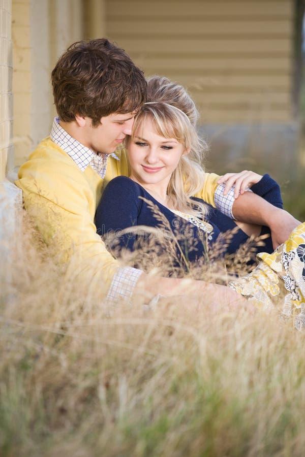 caucasian couple love young στοκ φωτογραφία