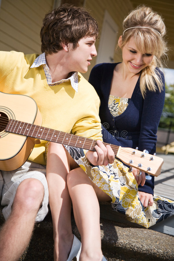 caucasian couple love young στοκ εικόνα