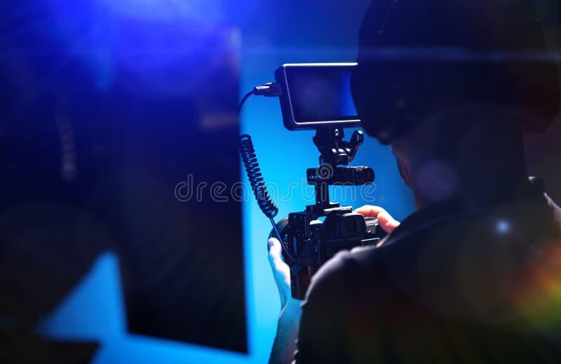 Video Film Camera Operator royalty free stock photos