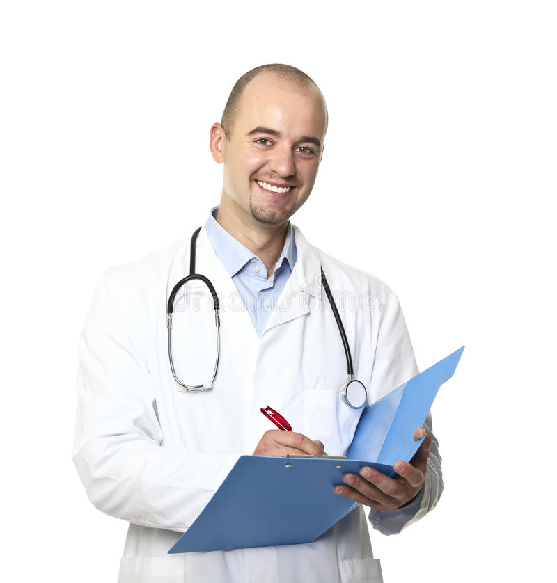 Caucasian doctor royalty free stock photos