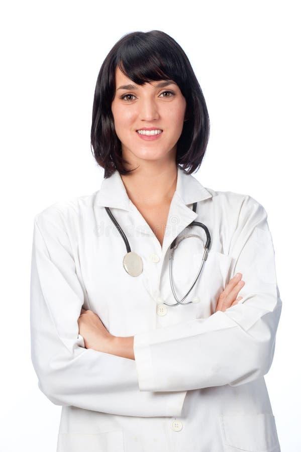 Caucasian doktor royaltyfria foton