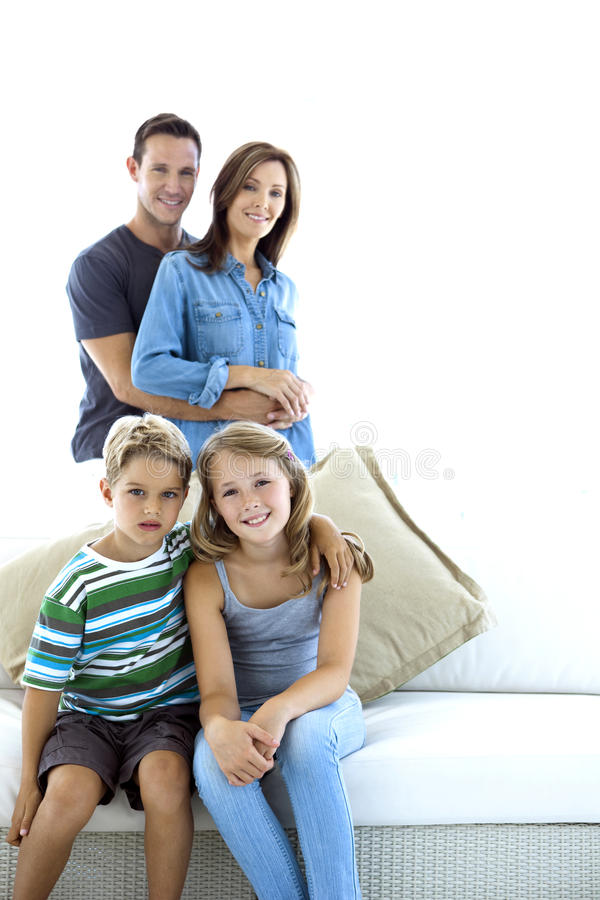 caucasian familj royaltyfri bild