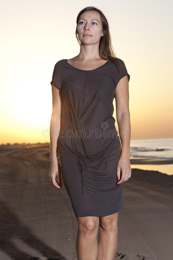 Download Caucasian Female Model On The Beach Stock Photo - Image: 24034680