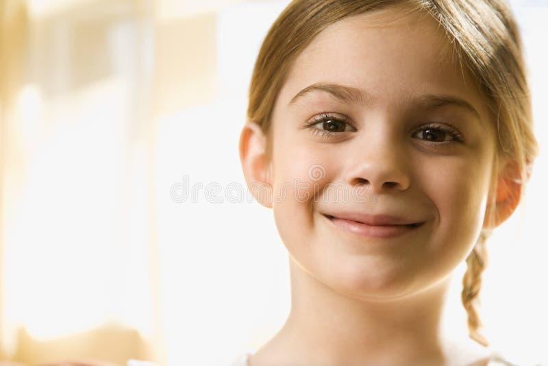 caucasian flickastående royaltyfria bilder