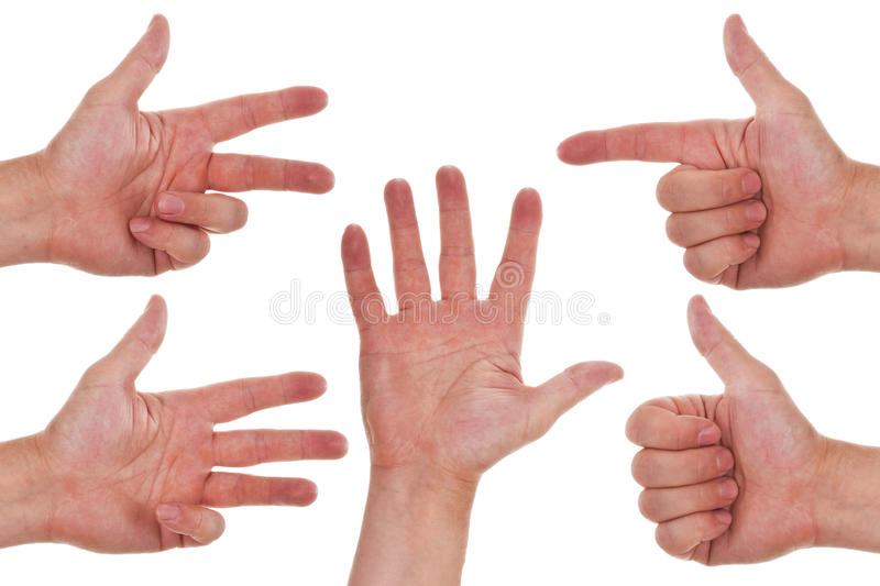 Download Caucasian Hands Counting From One To Five Stock Photo - Image: 25605484
