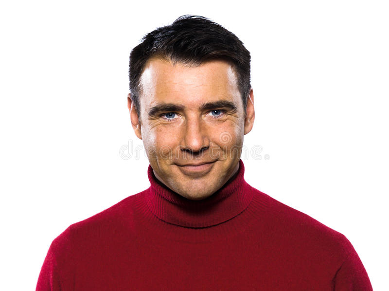 Caucasian handsome man portrait smiling cheerful royalty free stock photography