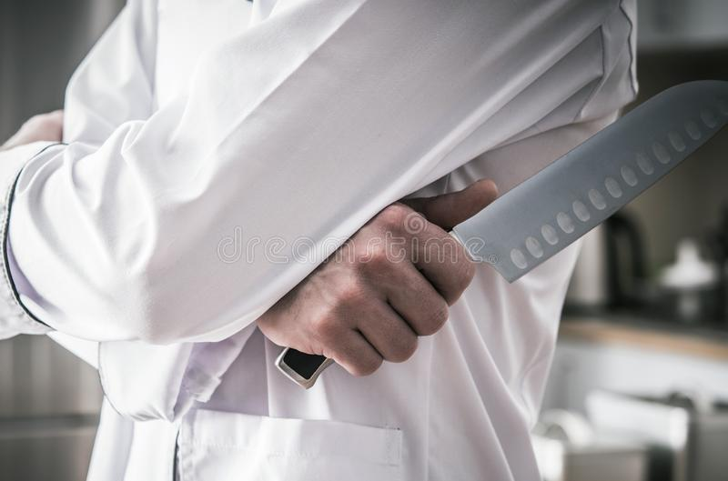 Kitchen Chef with Knife royalty free stock images