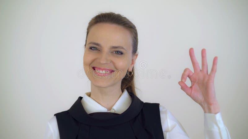 Caucasian kvinnlig 40 gamla år arkivfoto