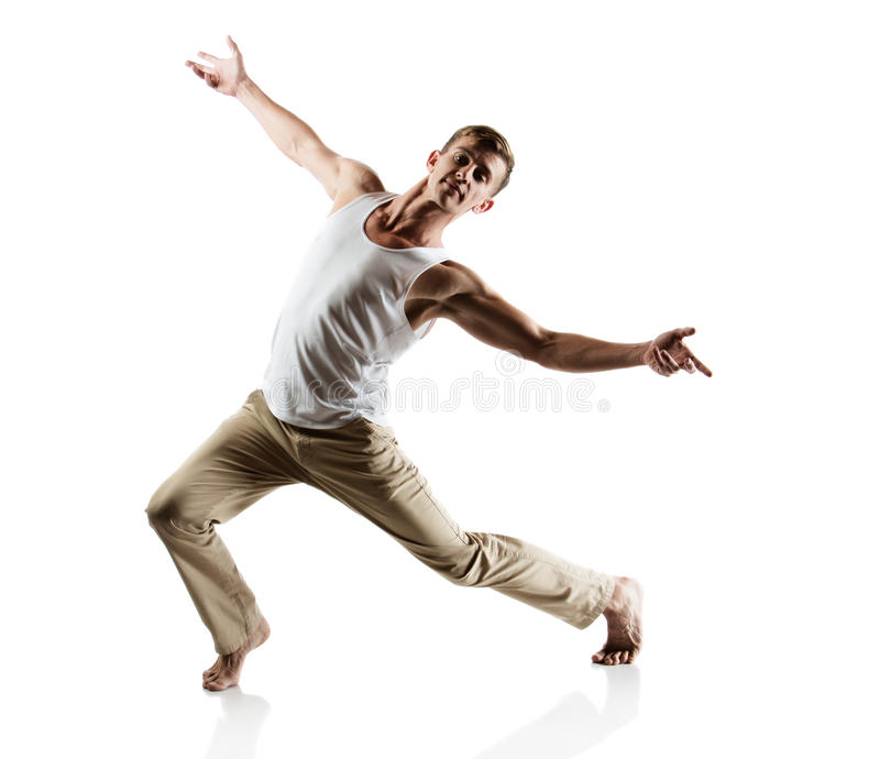 Download Caucasian male dancer stock image. Image of moving, motion - 40247335
