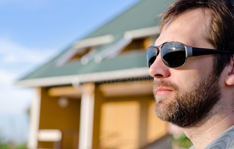 Caucasian man stock photo