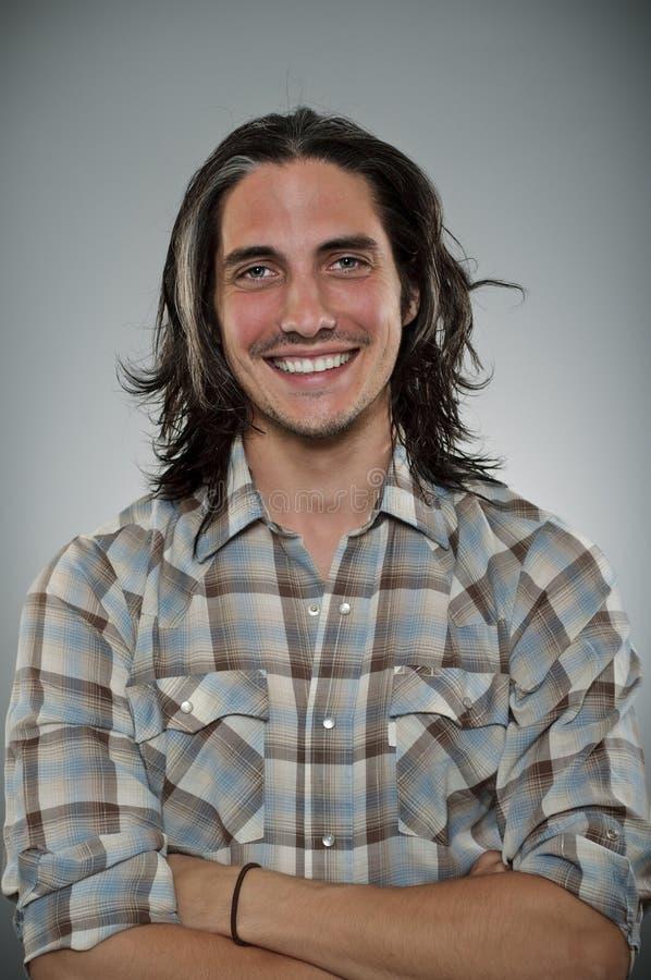 Caucasian Man Blank Expression Profile Portrtait. A Caucasian man in his 30's with a blank expresison royalty free stock photo