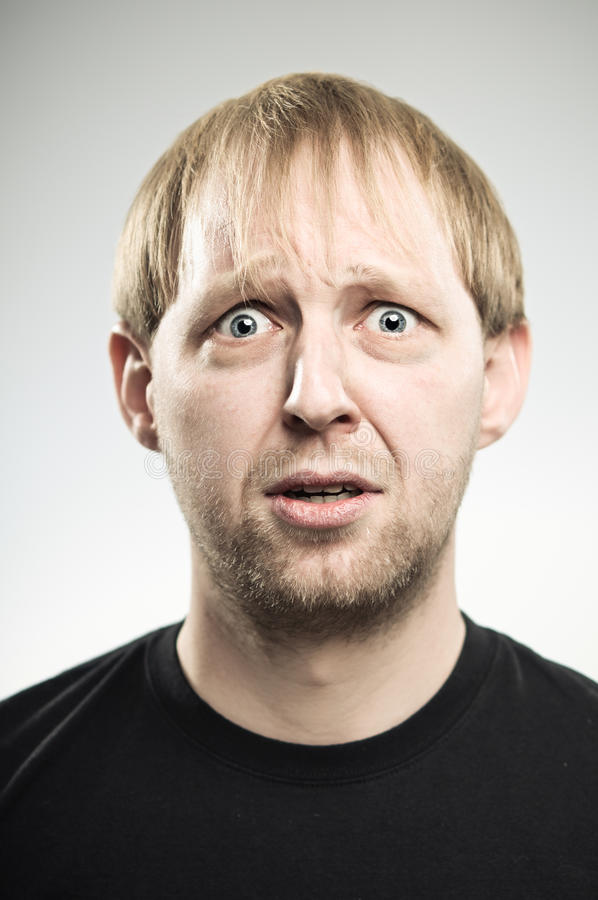 Caucasian Man Looking Rather Worried royalty free stock image