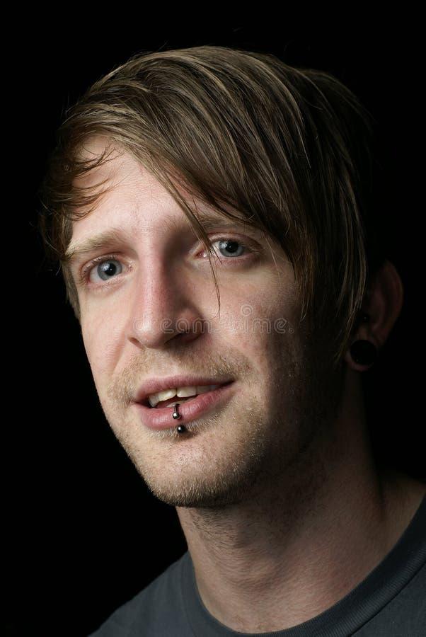 Guy Lip Piercing