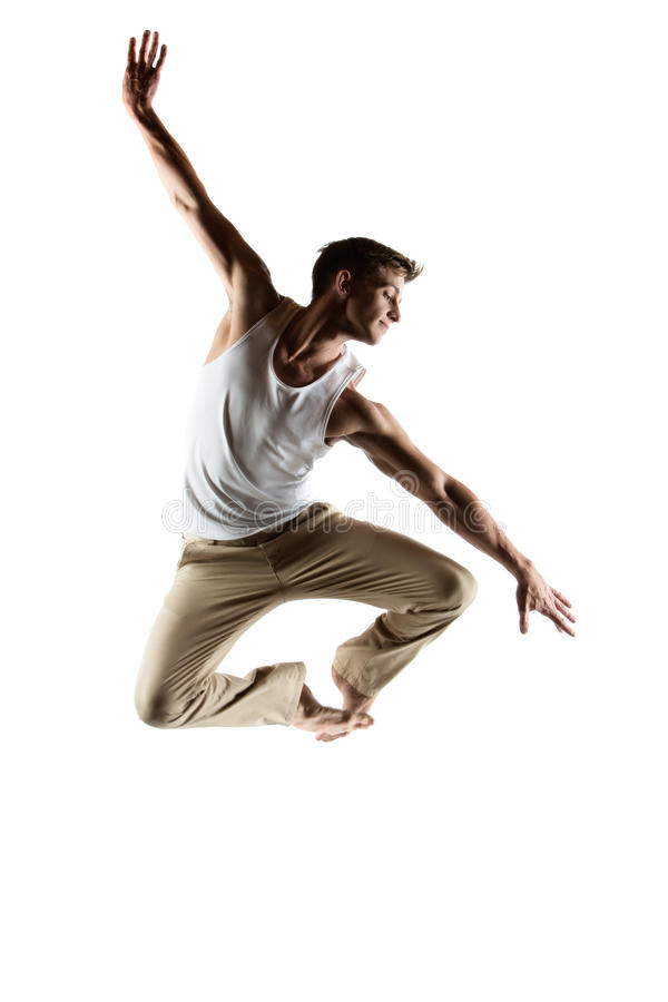 Caucasian manlig dansare arkivbilder
