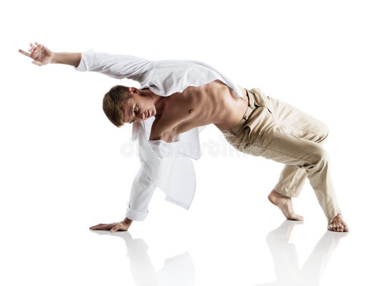 Caucasian manlig dansare royaltyfri foto