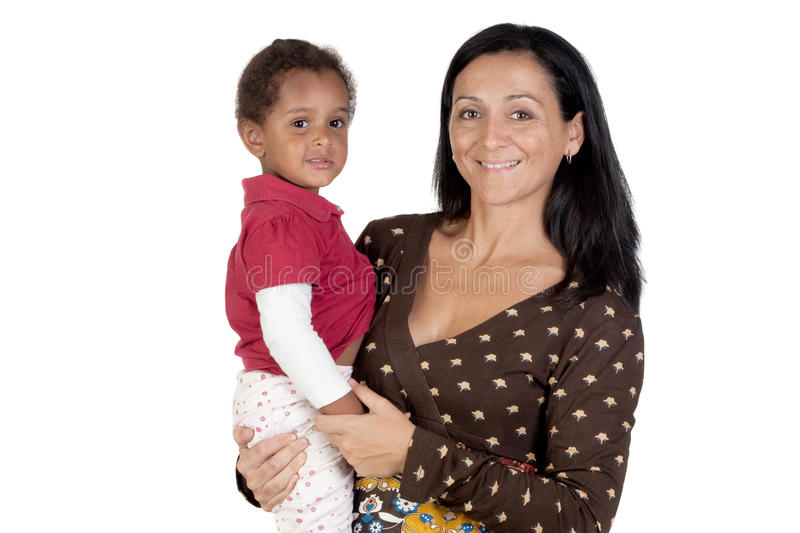 Download Caucasian Mother And African Daughter Stock Image - Image: 11761693