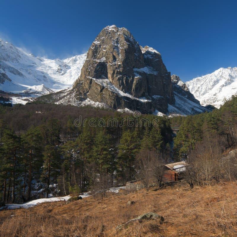 Caucasian mountain landscape royalty free stock photo