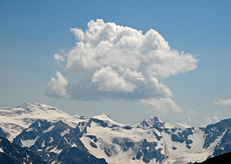 Caucasian mountains. Russia stock image