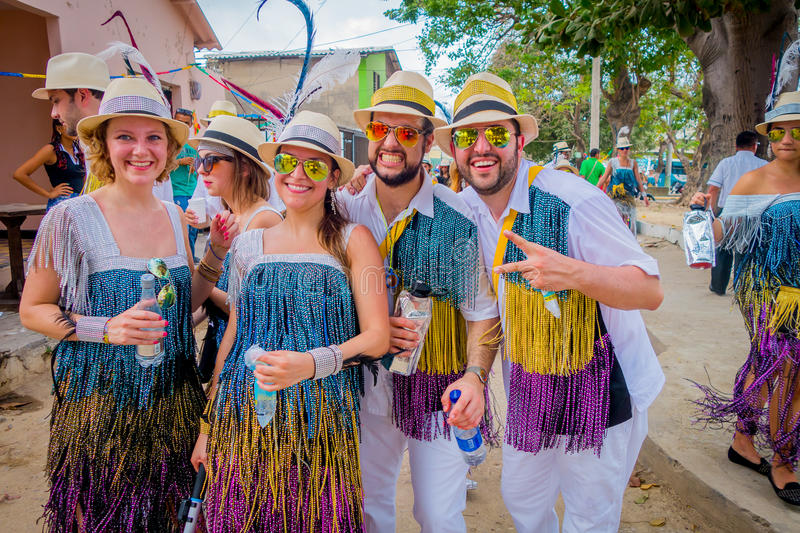 Caucasian och colombianska aktörer med färgrikt royaltyfria foton