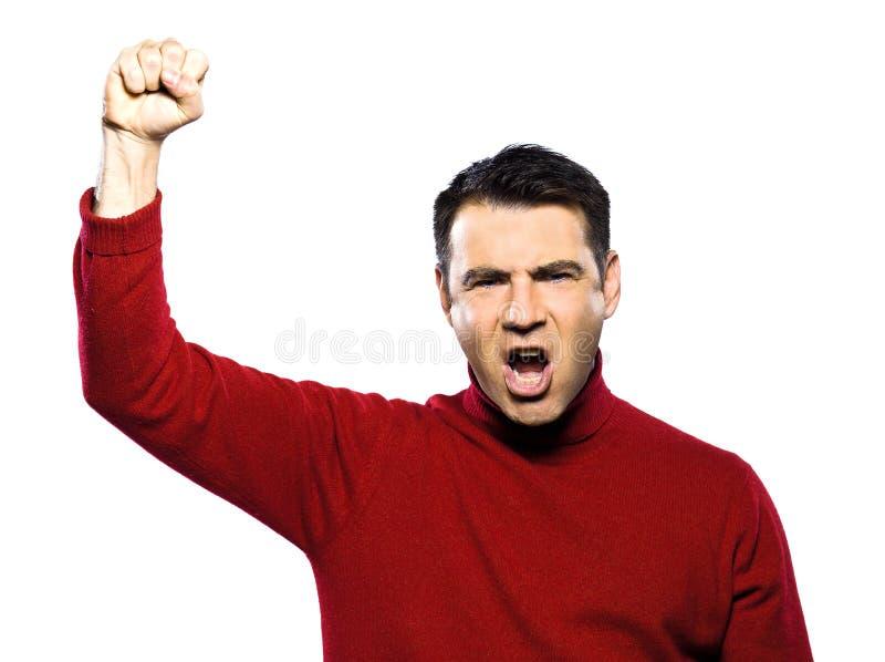 Download Caucasian revolt man stock image. Image of complain, gesturing - 21212309