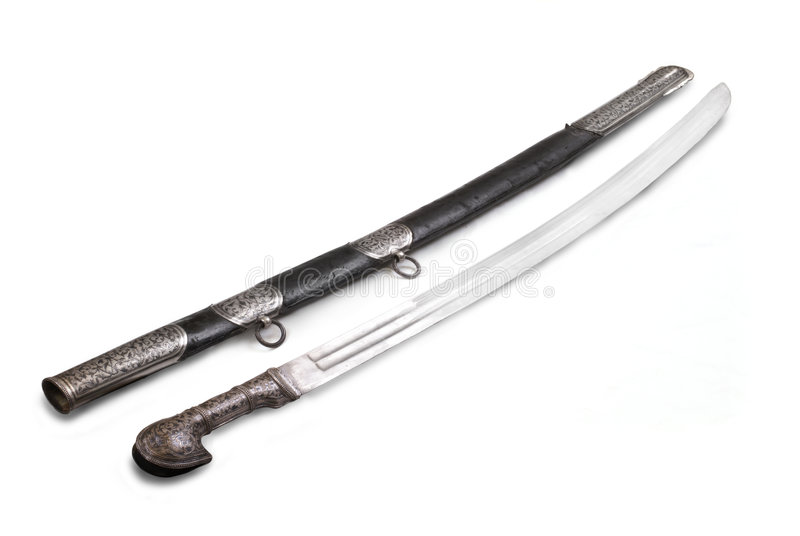Caucasian saber (sabre, cavalry sword). The 19th century. Russia. Dagestan royalty free stock images