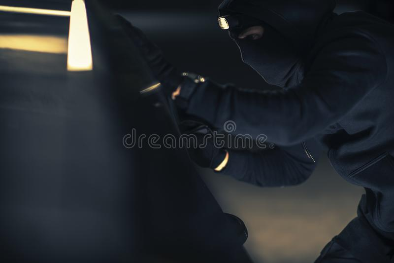 Caucasian Vehicle Thief royalty free stock photo