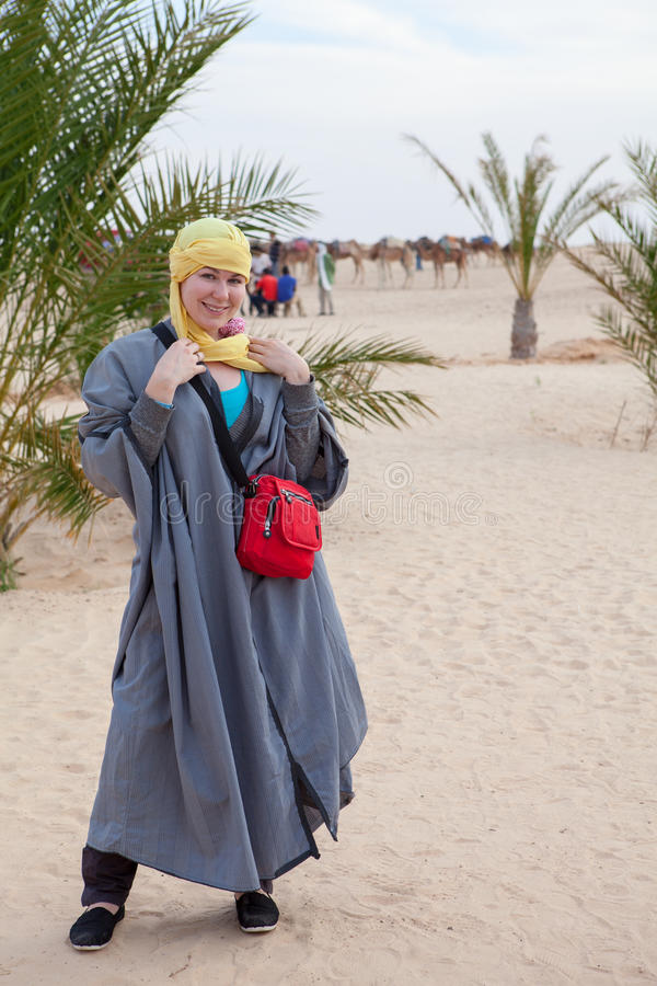 Download Caucasian Woman In Bedouin Clothes Royalty Free Stock Photography - Image: 28285767