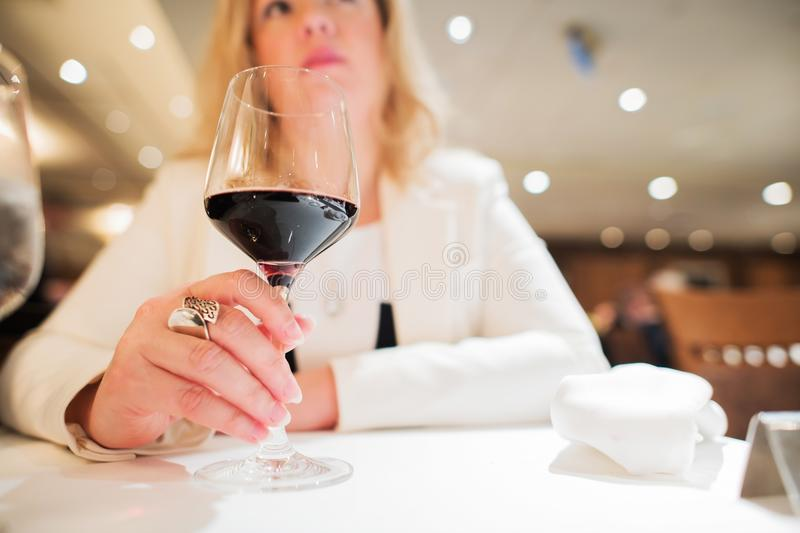 Red Wine Drinker stock photo