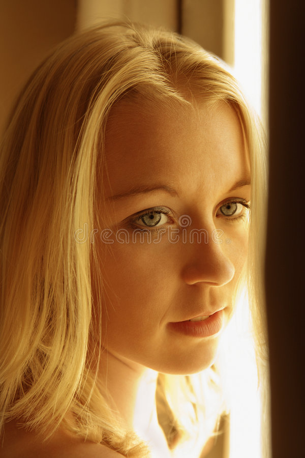 Caucasian woman portrait. royalty free stock images