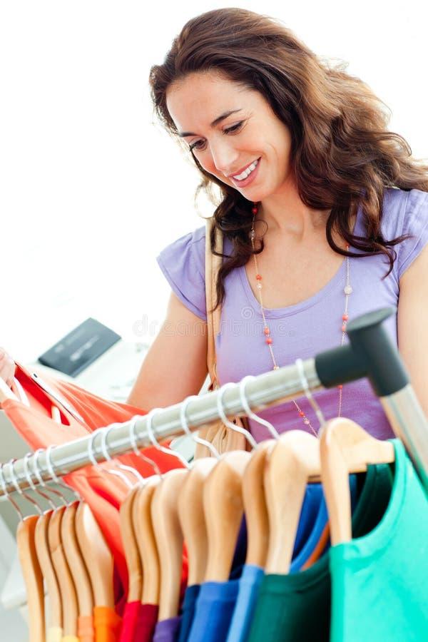 Download Caucasian Woman Selecting Items Stock Image - Image: 16093663
