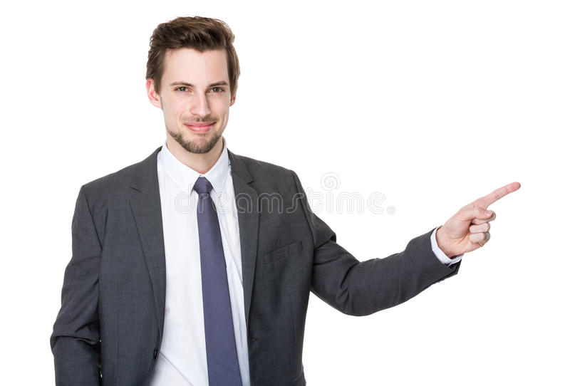 Caucasian young businessman royalty free stock photo