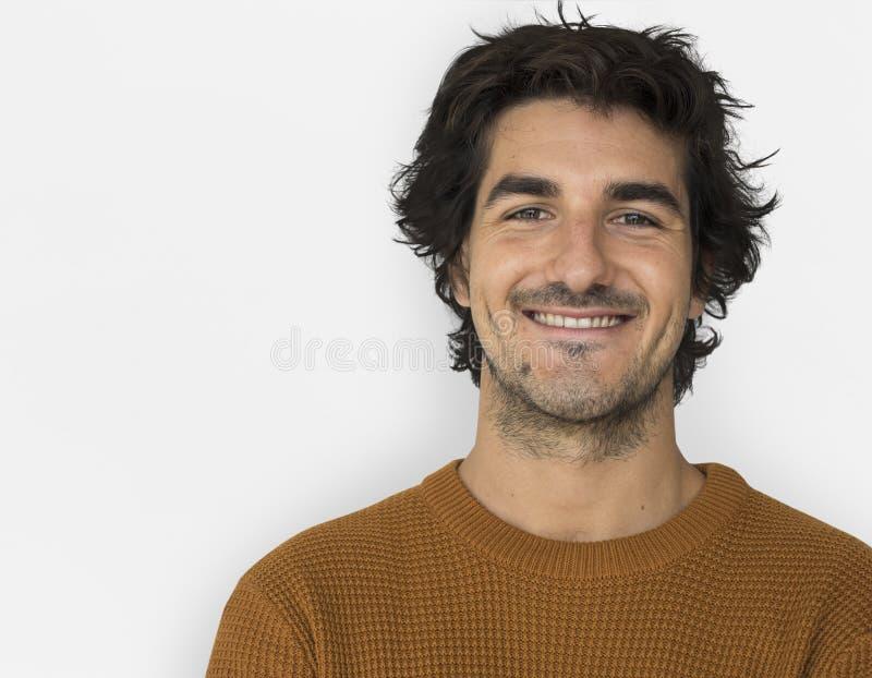 Caucasion mężczyzna Przypadkowy Ufny Atrakcyjny pojęcie zdjęcia stock