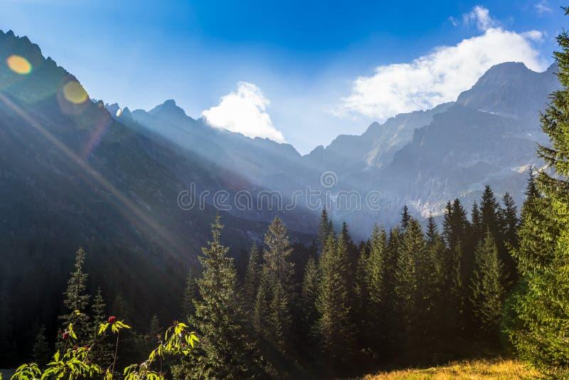 caucasus заволакивает ushba неба гор горы ландшафта shurovky tatra Польши гор стоковые изображения rf