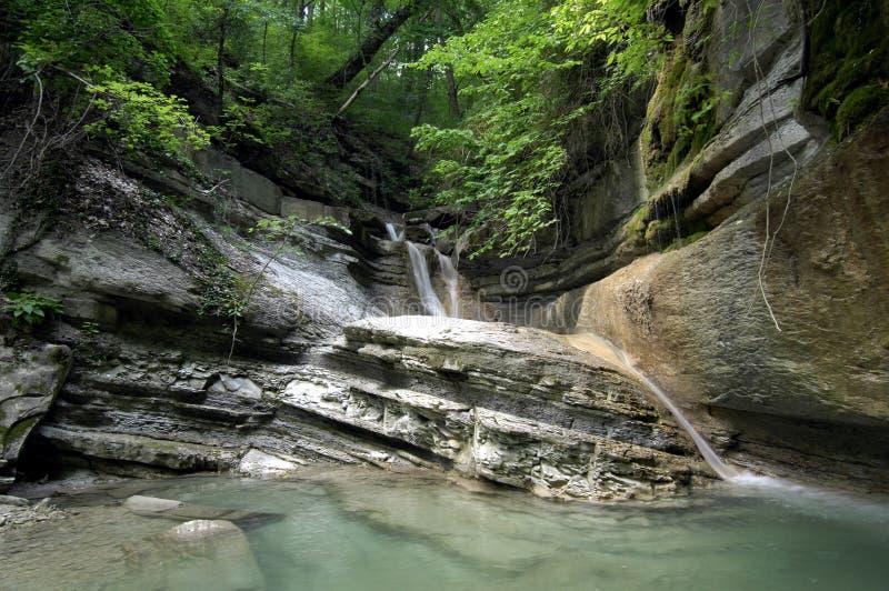 caucasus падает горы стоковое фото rf