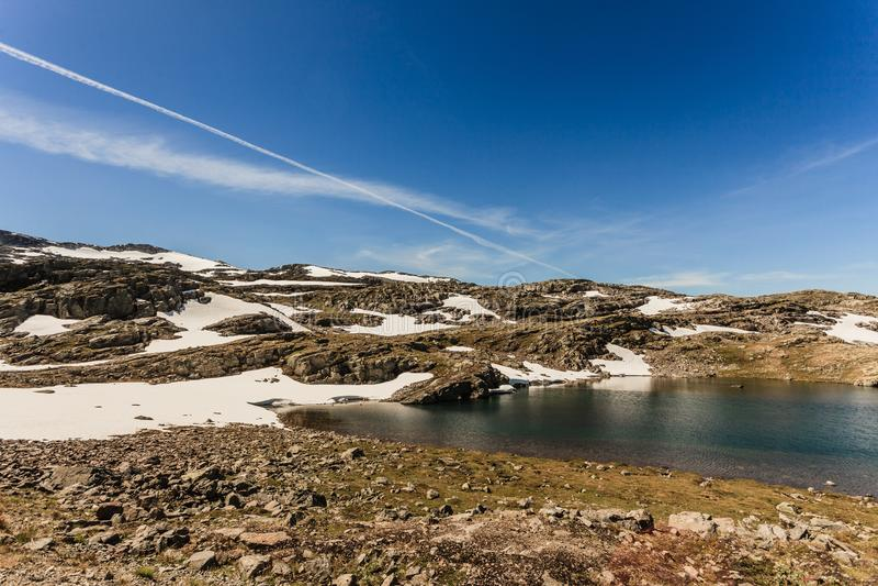 caucasus clouds ushba för sky för liggandebergberg shurovky Norsk scenisk rutt Aurlandsfjellet fotografering för bildbyråer