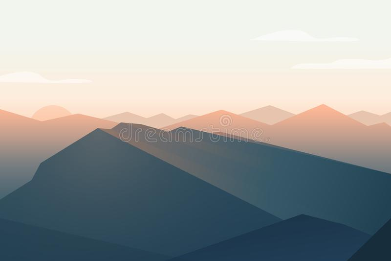 caucasus clouds ushba för sky för liggandebergberg shurovky Solnedgång royaltyfri illustrationer