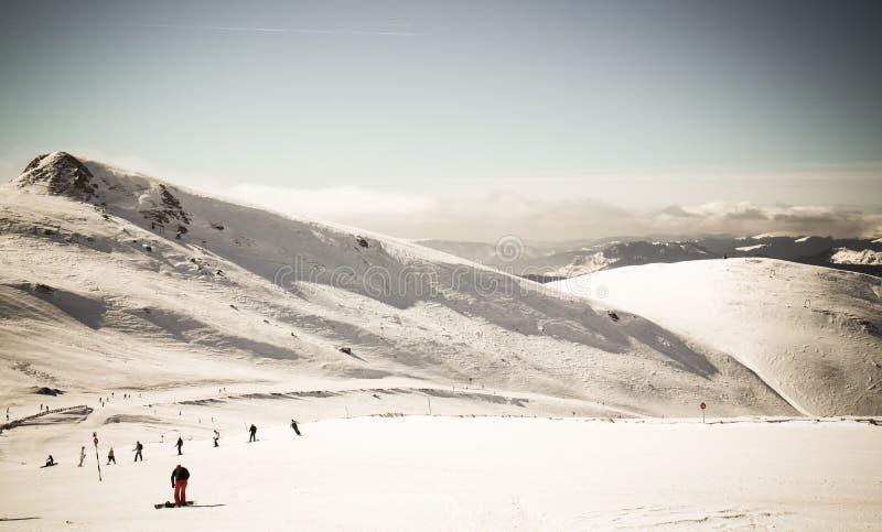 caucasus dombay regionu narty skłon zdjęcie stock