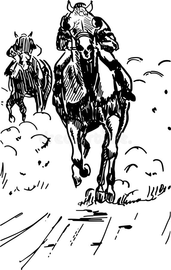 caucasus hipodromu koński północny pyatigorsk target2301_0_ Russia ilustracja wektor
