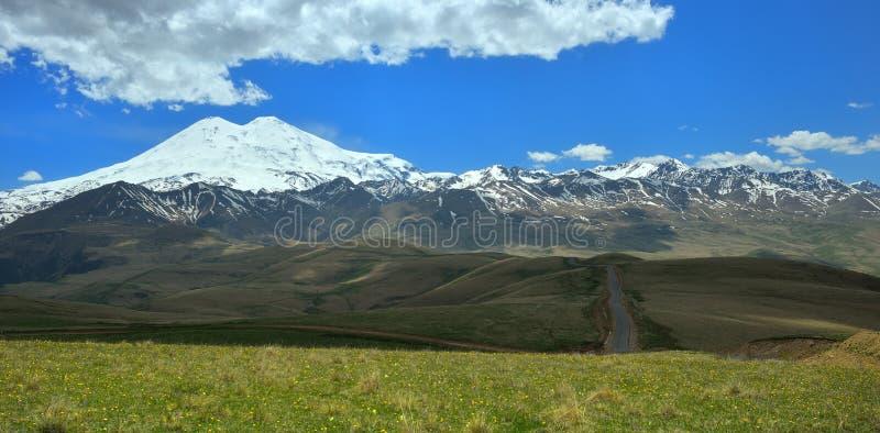 Caucasus landscape. This is colorful landscape in Caucasus mountains in summer stock image