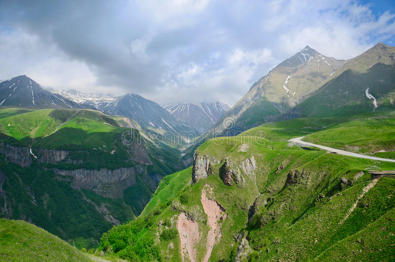 Caucasus mountains. Georgian Military Road. Georgia royalty free stock photo